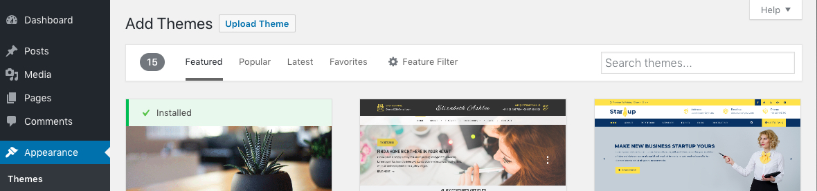 Upload Your WordPress Theme