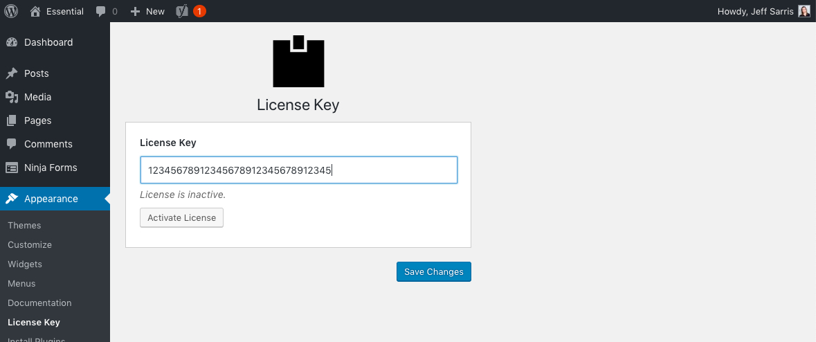 Activate Your Theme License Key