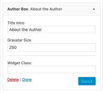Author Box Widget