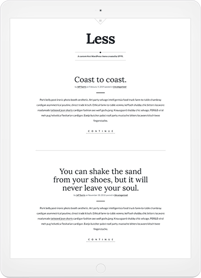 Less WordPress Theme